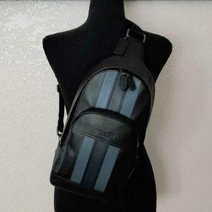 Houston Messenger Varsity Stripe Sling Pack Bag